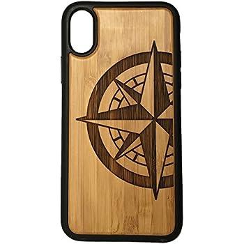 Amazoncom Compass Rose Iphone 7 Bamboo Case Tattoo Nautical