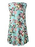 Veranee Womens Sleeveless Swing Tunic Summer Floral Flare Tank Top