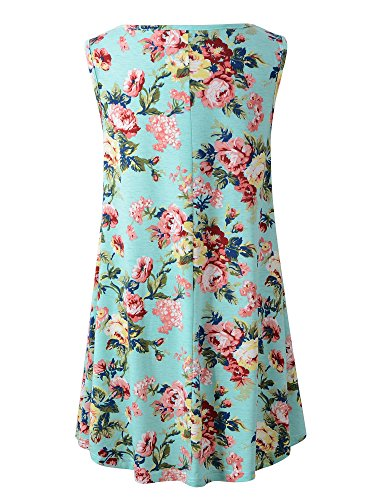 Veranee-Womens-Sleeveless-Swing-Tunic-Summer-Floral-Flare-Tank-Top