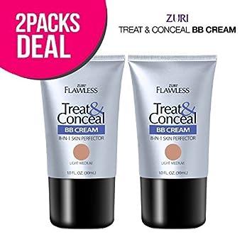 042bd3536b3 Amazon.com : Zuri Flawless Treat & Conceal BB Cream 8-in-1 Skin ...