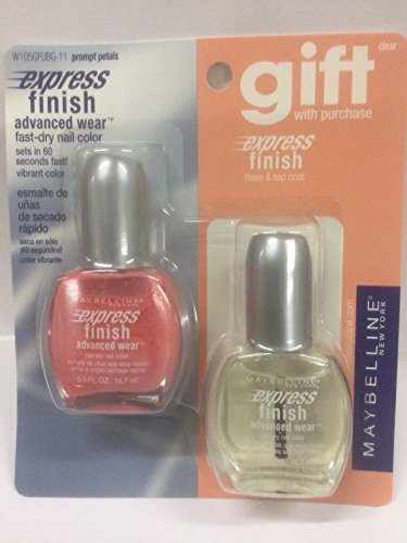 (Maybelline Express Finish fast dry Nail Color PROMPT PETALS + BASE AND TOP COAT)
