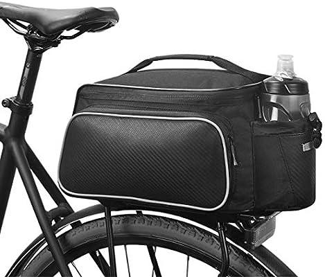 XPhonew 12L bicicleta Ciclismo Deporte al aire libre impermeable bolsa de asiento trasero alforjas alforja para bicicleta alforja bolsa de accesorios bolso de hombro con botella de agua paquete: Amazon.es: Deportes y