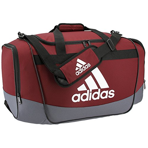 adidas Defender II Medium Duffel Bag, Medium, Collegiate Burgundy/Onix/White/Black