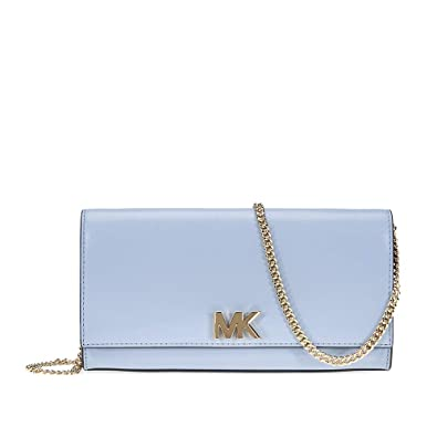 c8e18813512855 Michael Kors Mott Large Chain Wallet- Pale Blue: Handbags: Amazon.com