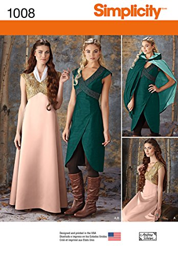 Simplicity Teen and Women's Renaissance Faire, Cosplay, and Halloween Costume Dress Sewing Pattern, Sizes 14-22]()