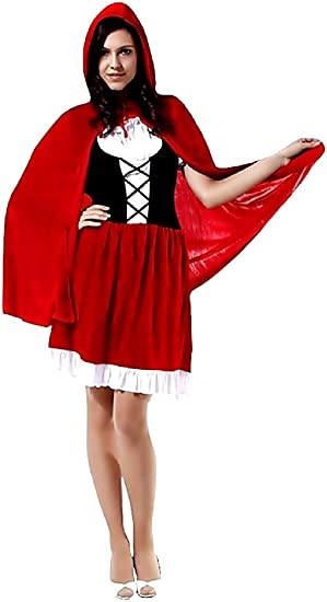 KIRALOVE Disfraz de Caperucita roja - Terciopelo - Disfraces de ...