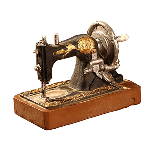 (Healifty Vintage Sewing Machine Model Resin Desktop Display Ornament Crafts for Home Office Decoration )