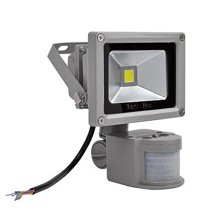 ALPHA DIMA Foco LED 10W con Sensor de Movimiento,LED Luz de Inundación Con Detector