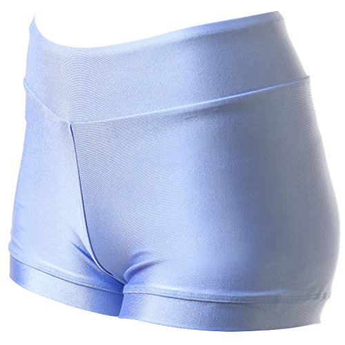 6e50212e991a VEVA Mini Workout Dance Gymnastics Yoga Shorts for Women Sky Blue XS