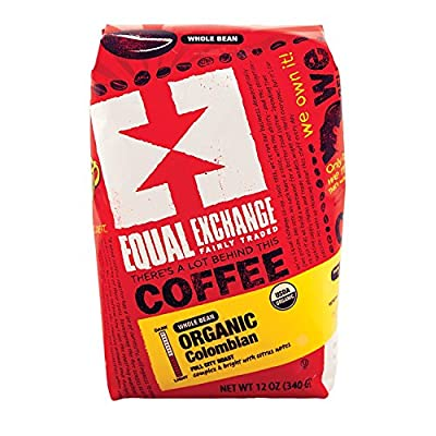 3 pack - Equal Exchange Organic Columbian Coffee - Whole Bean, (3) 12oz bags