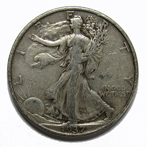 1937 P Walking Liberty Half Dollar 50c Very Fine