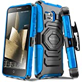Evocel® Alcatel OneTouch Fierce XL [New Generation] Rugged Holster Dual Layer Case [Kickstand][Belt Swivel Clip] For Alcatel OneTouch Fierce XL (2015 Release), Blue (EVO-ALFXL-XX02)