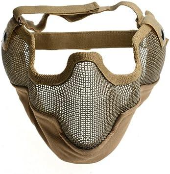 AZDENT® Máscara de malla de protección de la parte inferior de la cara Wargame CS