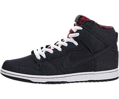 Nike Men's Dunk High Premium SB, DARK OBSIDIAN/DRK OBSDN-WHITE, 7.5 M US