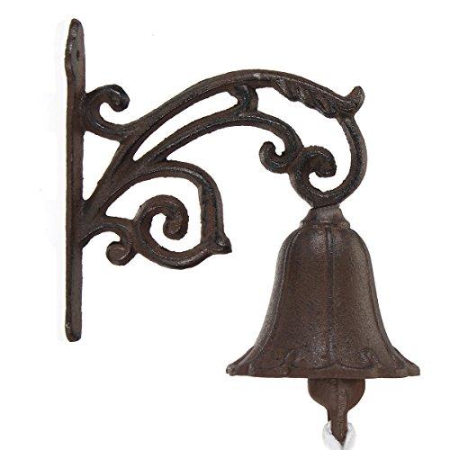 (Yingte Cast Iron Boat Verdigris Garden Rustic Wall Decorative Doorbell)