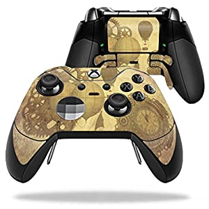 MightySkins Skin Compatible with Microsoft Xbox One Elite Controller – Steam Punk Paper | Protective, Durable, and Unique Vinyl wrap Cover | Easy to Apply, Remove, and Change Styles | Made in The USA