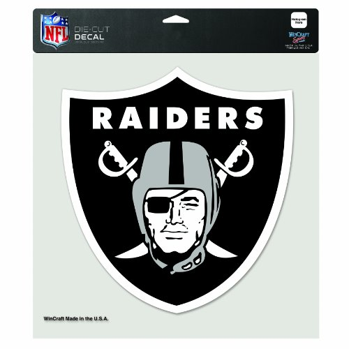 NFL Oakland Raiders 8-by-8 Inch Diecut Colored Decal ()