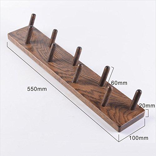 Coat Rack Solid Wood Coat Rack, Wall Hanging Rack, Wall Hanging Wall Solid Wood Hook, Entrance Bedroom Porch Coat Rack (Color : B, Size : 550mm)
