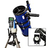TwinStar Blue 6'' iOptron Computerized GPS Equatorial Reflector Telescope With Universal Smartphone Camera Adapter