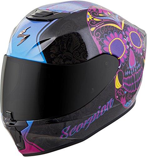 Scorpion Unisex-Adult Full-face-Helmet-Style Sugarskull (Black/Pink, Large)