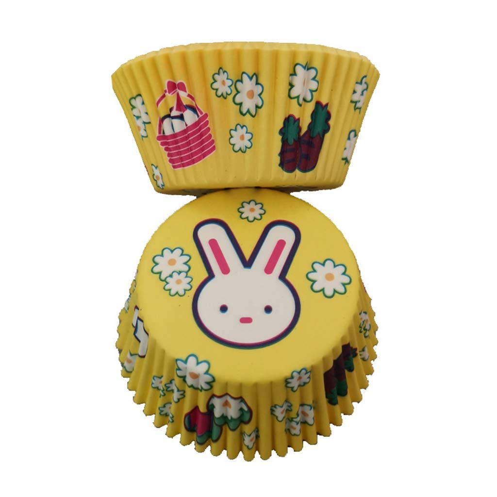 Paper Cake Baking Cup 100 Pcs Cupcake Liner Case Wrapper Muffin Baking Cup for Muffins, Cupcakes or Mini Snacks (Yellow)