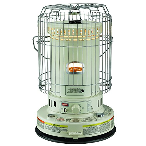 Dyna-Glo RMC-95C6 Indoor Kerosene Convection Heater, 23000 BTU, Ivory