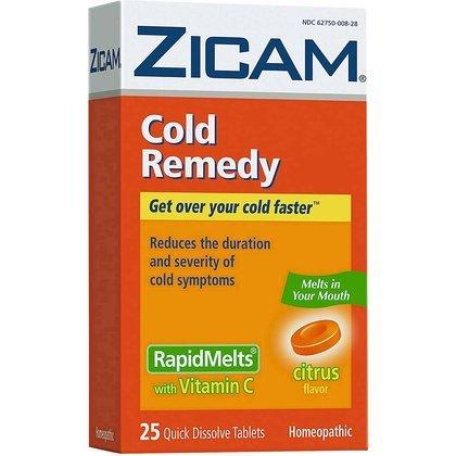 Zicam Cold Remedy RapidMelts with Vitamin +C-Citrus-25 ct. (Quantity of 3)