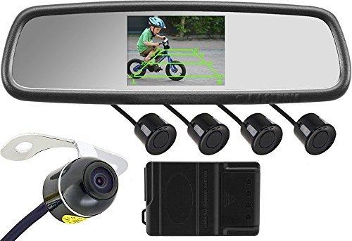 Rearview Backup Camera System (Rear View Mirror with Built-in Display, Color Camera and Sensors) HK-4368P [並行輸入品] B01NBQMJTQ