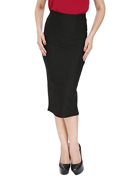 519ce734a SVT ADA COLLECTIONS Black Lycra MID Calf Length Pencil Skirt(47402_Black_Medium):  Amazon.in: Clothing & Accessories