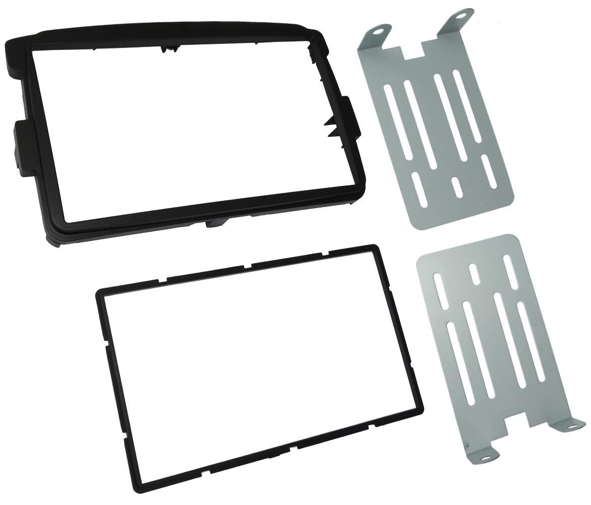 Adaptateur autoradio fa/çade Cadre r/éducteur Noir 2DIN C42698 AERZETIX