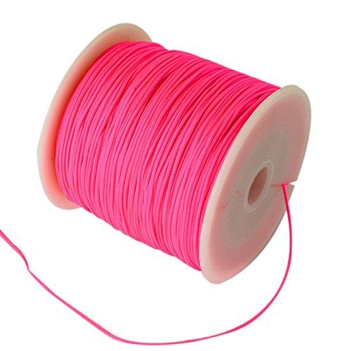 My-Bead Cinta de Nailon Cord/ón trenzado blanco di/ámetro /Ø 1 mm rollo con 90 m Cuerda de Nailon DIY