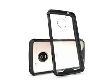 HHF teléfono Accesorios para Moto G5, Resistente y Transparente PC Back TPU Bumper [Protección