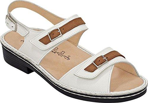 Trouver Confort Sandales Sasso Femme Sandal Blanc, Cuoio Nappa, Drakker