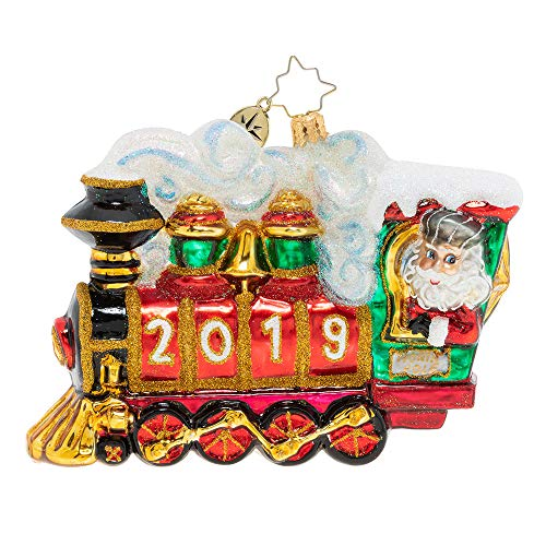 Christopher Radko Hand-Crafted European Glass Christmas Decorative Figural Ornament, All Aboard! 2019 (Handcrafted Ornaments Sale For Christmas)