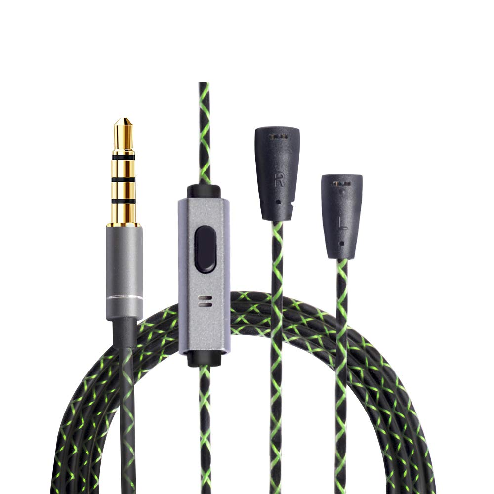 OKCSC EXS3twNM Headphone Replacement Cord 5N OFC Earphones Upgrade Cable Headset Conversion Cable for Sennheiser ie80s ie80 ie8i ie8 (No Mic)