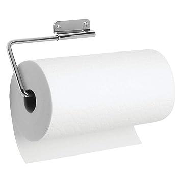 InterDesign Basic Porta rollos de papel de cocina | Portarrollos de pared para un rollo de cocina | Porta rollo giratorio | Metal plateado: Amazon.es: Hogar