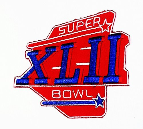 Super Bowl Xlii Logo Sign Patch Iron On Applique Embroidered Sew Jacke T Shirt
