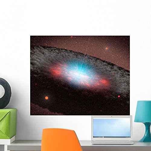 Wallmonkeys Supermassive Black Hole Center Wall Mural by Peel and Stick Graphic (24 in W x 19 in H) WM220533 -