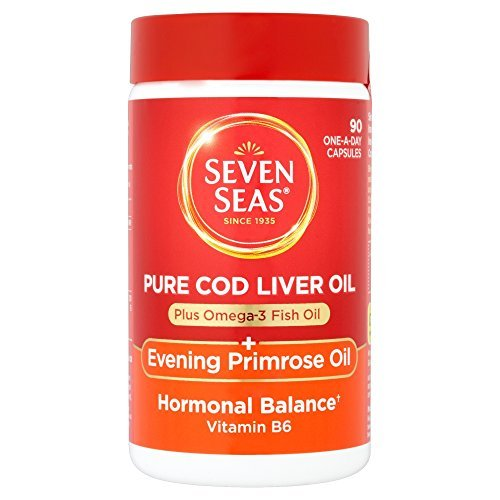 Cod Oil Evening Liver Primrose (Seven Seas Cod Liver Oil Plus Evening Primrose Oil One A Day 90 Capsules by Seven Seas)