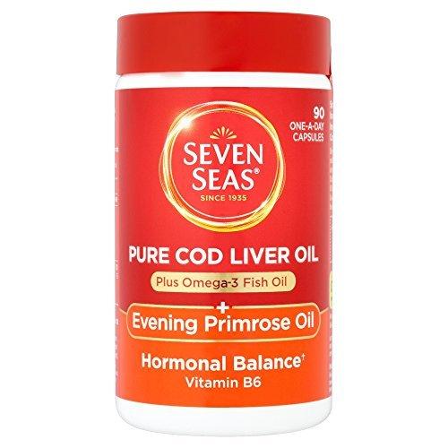 Evening Liver Primrose Cod Oil (Seven Seas Cod Liver Oil Plus Evening Primrose Oil One A Day 90 Capsules by Seven Seas)