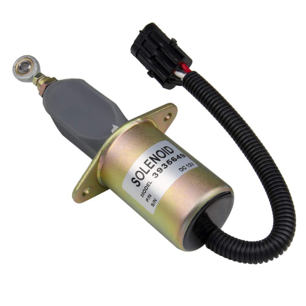 BIG AUTOPARTS Solenoid Valve Replacement 3 Inch Electric Fuel Shut Off Solenoids Valve for 5.9L or 8.3L Cummins Diesel Engine Big-Autoparts