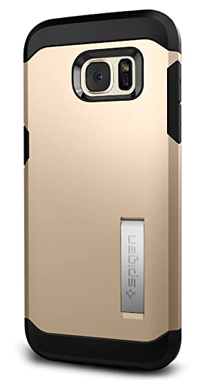 new concept dd773 f7988 Spigen Tough Armor Designed for Samsung Galaxy S7 Edge Case (2016) -  Champagne Gold
