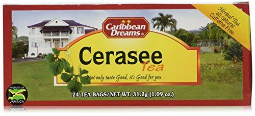 Caribbean Dreams Cerasee Tea, 24 Tea Bags, Herbal Tea, All Natural, Caffeine Free Tea, 100% Cerasee Leaves
