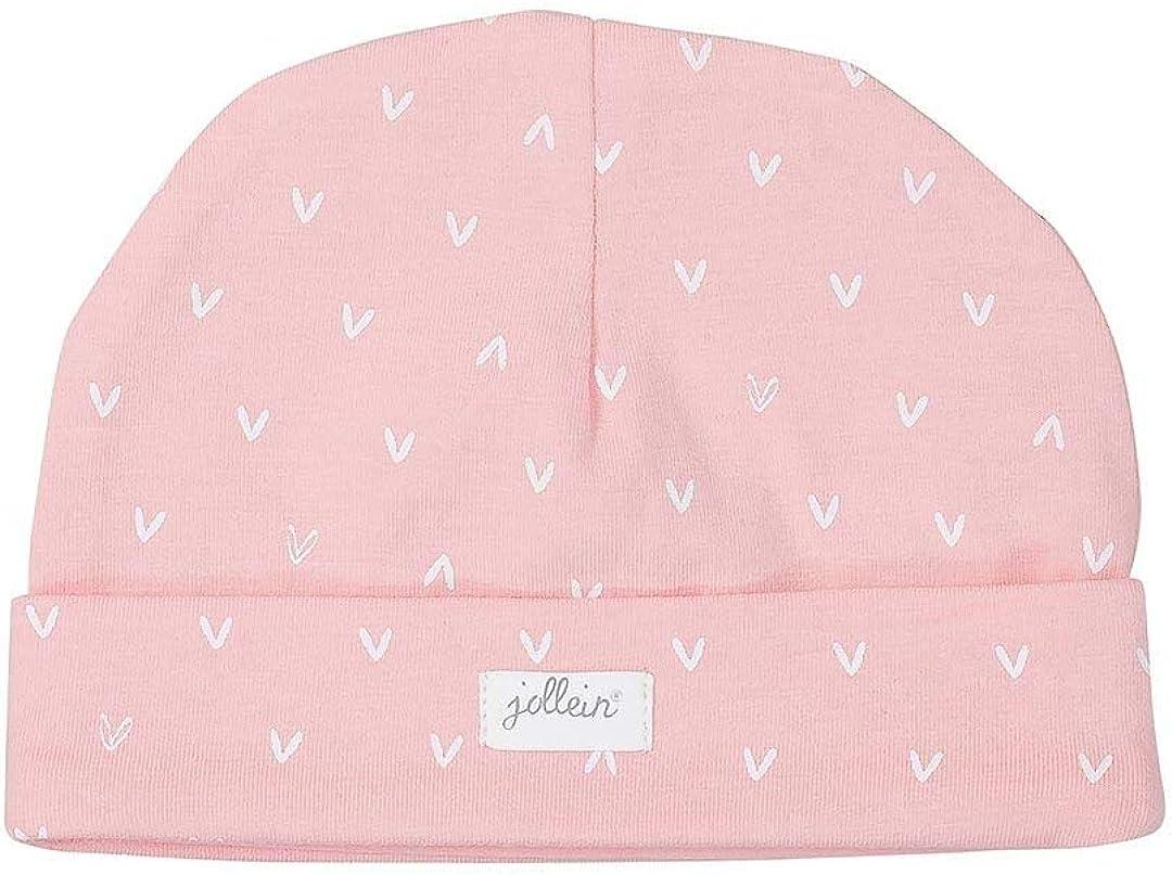 Jollein Hat, 6 to 12 Months, Soft Pink, Hearts