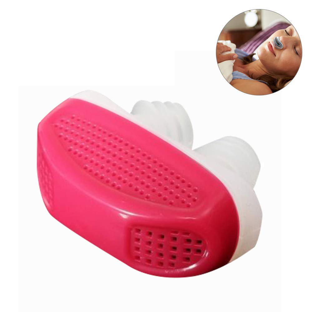 Anti Snore Snoring Devices AIDS 2 in 1 Anti-Snoring Solution Anti Snore Nose Purifier Snore Stopper Nose Vents Solution Blocker Preventer Relief (Red)