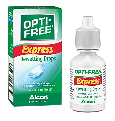 Lens Rewetting Drops (Opti-Free Express Rewetting Drops, 20-mL)