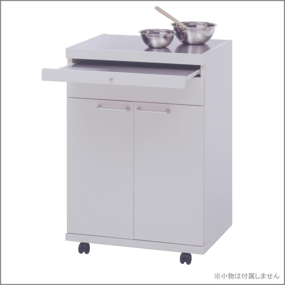 日用品 キッチン収納 関連商品 コンパクトキッチンカウンター ホワイトウッド柄 WW-23 B076B6ZV76