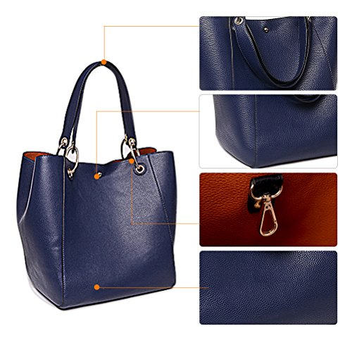 Women Hobo Ladies A Bag Handbag Bag College Large Bag Blue Tote for Handbags Leather Teacher Shopping 0qPwpAp