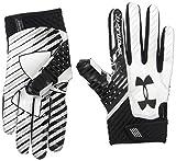 Under Armour Men's Spotlight Football Gloves,Black (001)/Black, Small/Medium