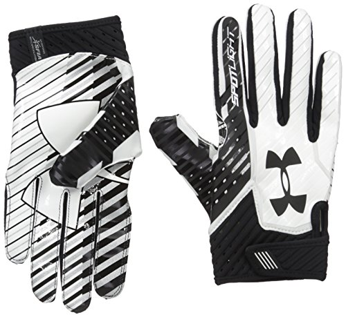 0461a6b4878fc Under Armour Men's Spotlight Football Gloves,Black (001)/Black, Small/